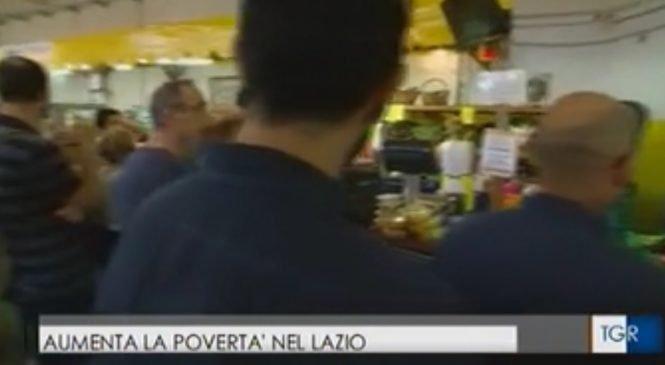 Cresce la povertà nel Lazio. Il nostro studio al Tg3 regionale