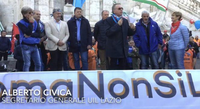 Alberto Civica in Campidoglio #ScioperoXRoma