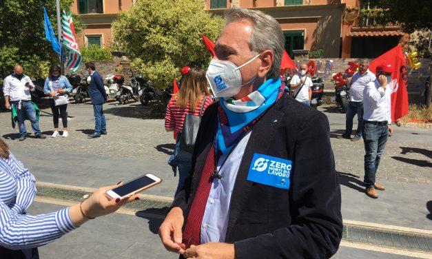 #ZeroMortiSulLavoro è il nostro obiettivo. Alberto Civica al sit in sotto la Regione Lazio